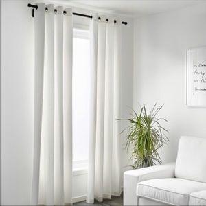 IKEA ritva curtains grey beige grommet